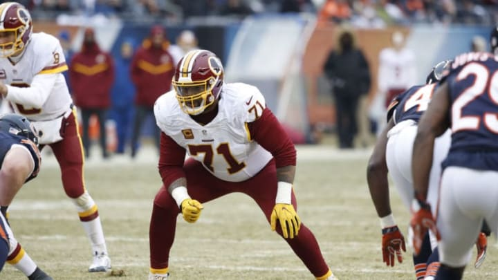 CHICAGO, IL - DECEMBER 24: Trent Williams #71 of the Washington Redskins in action during the game against the Chicago Bears at Soldier Field on December 24, 2016 in Chicago, Illinois. Washington defeated Chicago 41-21. (Photo by Joe Robbins/Getty Images)