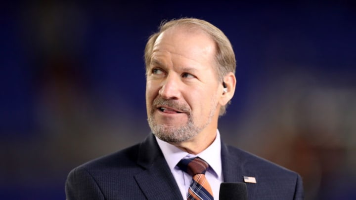 BALTIMORE, MD - OCTOBER 26: NFL Network analyst Bill Cowher appears on set during the Baltimore Ravens and Miami Dolphins game at M&T Bank Stadium on October 26, 2017 in Baltimore, Maryland. (Photo by Rob Carr/Getty Images)