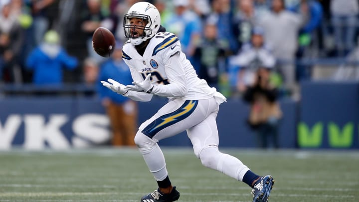SEATTLE, WASHINGTON – NOVEMBER 04: Keenan Allen #13 of the Los Angeles Chargers makes a catch in the second quarter against the Seattle Seahawks at CenturyLink Field on November 04, 2018 in Seattle, Washington. (Photo by Otto Greule Jr/Getty Images)