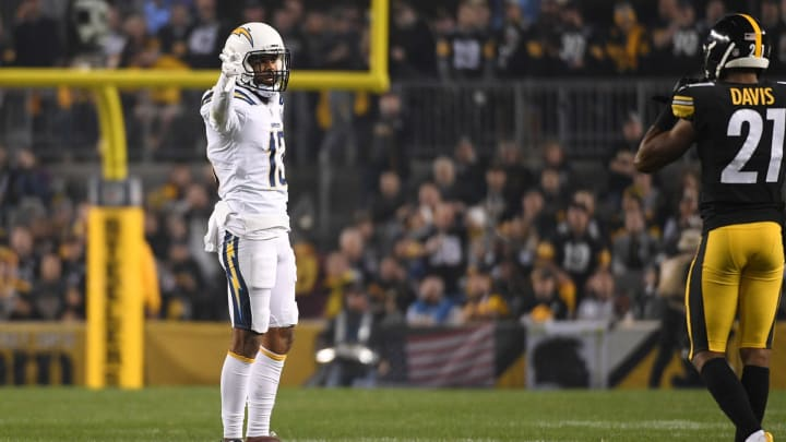 PITTSBURGH, PA – DECEMBER 02: Keenan Allen #13 of the Los Angeles Chargers reacts after a first down reception in the first quarter during the game against the Pittsburgh Steelers at Heinz Field on December 2, 2018 in Pittsburgh, Pennsylvania. (Photo by Justin Berl/Getty Images)
