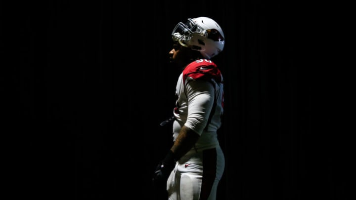CARSON, CA - NOVEMBER 25: Defensive tackle Robert Nkemdiche #90 of the Arizona Cardinals walks out to the field for the game against the Los Angeles Chargers at StubHub Center on November 25, 2018 in Carson, California. (Photo by Sean M. Haffey/Getty Images)