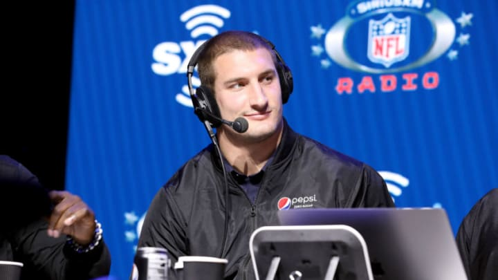 MIAMI, FLORIDA - JANUARY 30: NFL defensive end, Joey Bosa of the Los Angeles Chargers speaks onstage during day 2 of SiriusXM at Super Bowl LIV on January 30, 2020 in Miami, Florida. (Photo by Cindy Ord/Getty Images for SiriusXM )