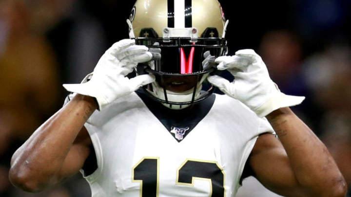NEW ORLEANS, LOUISIANA - JANUARY 05: Michael Thomas #13 of the New Orleans Saints in action during the NFC Wild Card Playoff game against the Minnesota Vikings at Mercedes Benz Superdome on January 05, 2020 in New Orleans, Louisiana. (Photo by Sean Gardner/Getty Images)