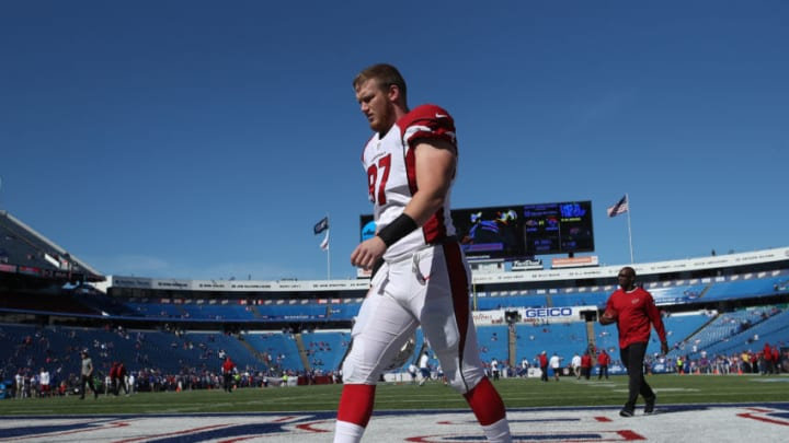 ORCHARD PARK, NY - SEPTEMBER 25: Josh Mauro #97 of the Arizona Cardinals during warm-ups prior to the start of NFL game action against the Buffalo Bills at New Era Field on September 25, 2016 in Orchard Park, New York. (Photo by Tom Szczerbowski/Getty Images)