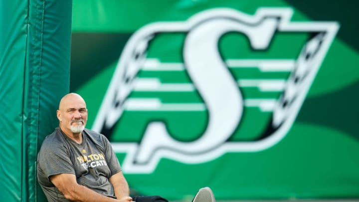 Hamilton Tiger-Cats offensive line coach Dennis McKnight (Photo by Brent Just/Getty Images)