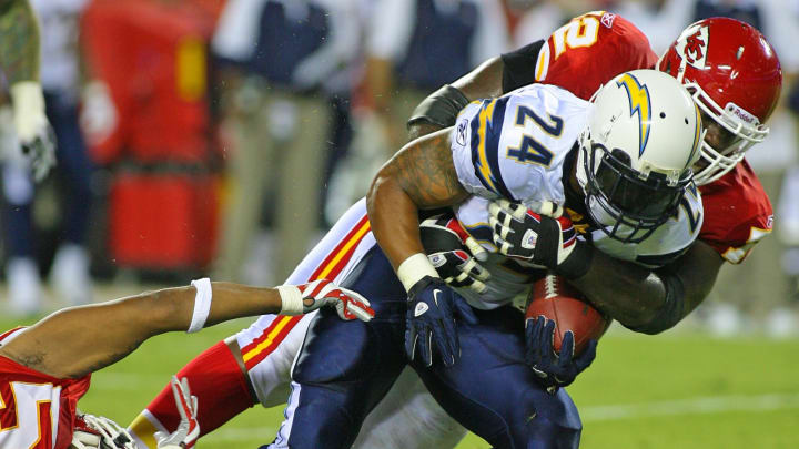 (Photo by Tim Umphrey/Getty Images) – LA Chargers