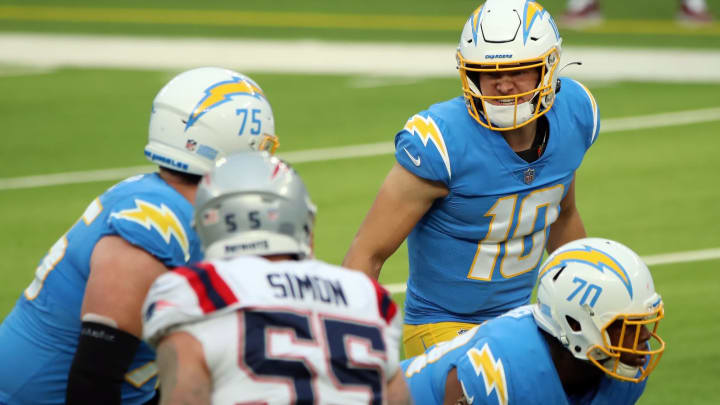 (Photo by Katelyn Mulcahy/Getty Images) – LA Chargers Justin Herbert