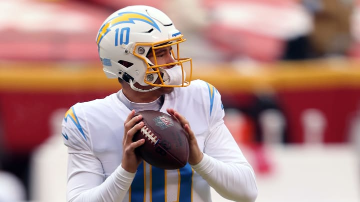 (Photo by Jamie Squire/Getty Images) – LA Chargers Justin Herbert
