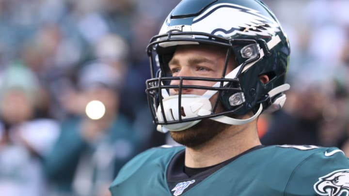 PHILADELPHIA, PA - DECEMBER 22: Zach Ertz #86 of the Philadelphia Eagles runs onto the field prior to the game against the Dallas Cowboys at Lincoln Financial Field on December 22, 2019 in Philadelphia, Pennsylvania. (Photo by Mitchell Leff/Getty Images)
