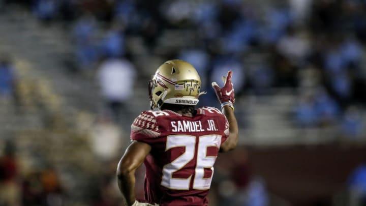 Cornerback Asante Samuel, Jr. #26 of the Florida State Seminoles (Photo by Don Juan Moore/Getty Images)