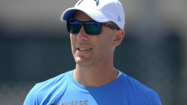 Jul 30, 2019; Costa Mesa, CA, USA; Los Angeles Chargers general manager Tom Telesco during training camp at the Jack Hammett Sports Complex. Mandatory Credit: Kirby Lee-USA TODAY Sports