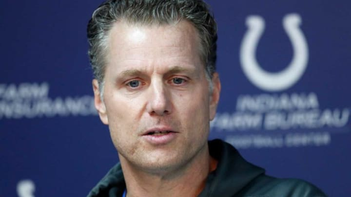 Indianapolis Colts defensive coordinator Matt Eberflus speaks to the media during the Colts mandatory minicamp at the Colts Complex on Wednesday, June 12, 2019. Colts Minicamp