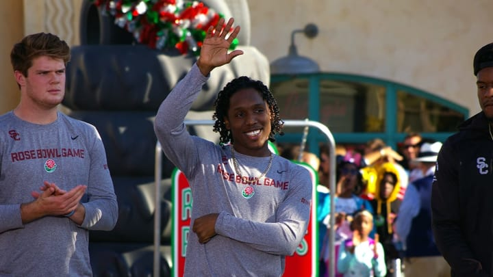 USC football's Adoree' Jackson at Disneyland's California Adventure during Rose Bowl week. (Alicia de Artola/Reign of Troy)