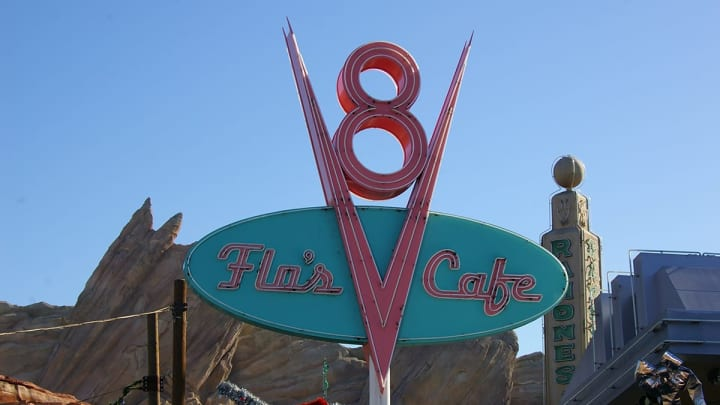 Flo's Cafe at Disneyland's California Adventure during Rose Bowl week. (Alicia de Artola/Reign of Troy)