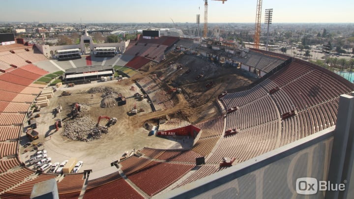 OxBlue LA Coliseum Renovation Live Cam