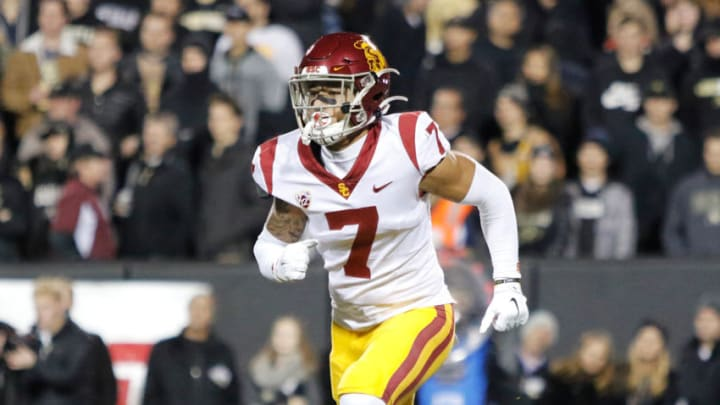 USC football defensive back Chase Williams. (Alicia de Artola/Reign of Troy)