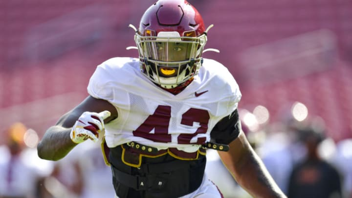 USC football outside linebacker Abdul-Malik McClain. (John McGillen via USC Athletics)