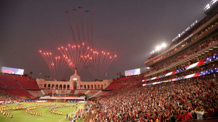 USC football at the Coliseum. (Harry How/Getty Images)