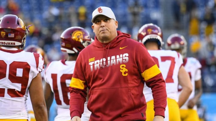 USC football head coach Clay Helton. (Brian Rothmuller/Icon Sportswire via Getty Images)