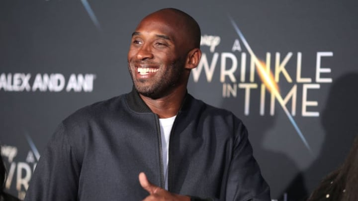 LOS ANGELES, CA - FEBRUARY 26: Kobe Bryant attends the premiere of Disney's 'A Wrinkle In Time' at the El Capitan Theatre on February 26, 2018 in Los Angeles, California. (Photo by Christopher Polk/Getty Images)