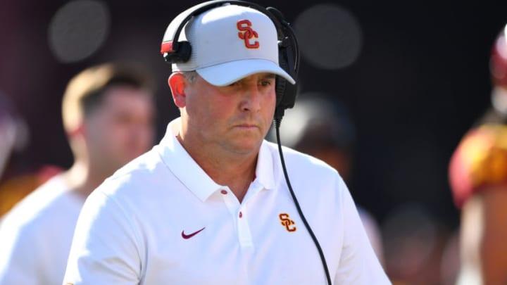 USC football head coach Clay Helton. (Jayne Kamin-Oncea/Getty Images)