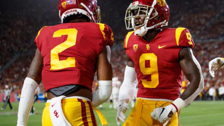 USC football cornerbacks. (Bob Drebin/ISI Photos/Getty Images).