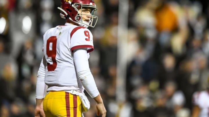 Kedon Slovis could make a Heisman run for USC football. (Dustin Bradford/Getty Images)