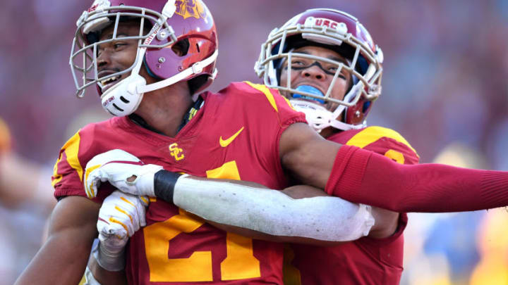 USC football has reason to celebrate support staff additions. (Jayne Kamin-Oncea/Getty Images)