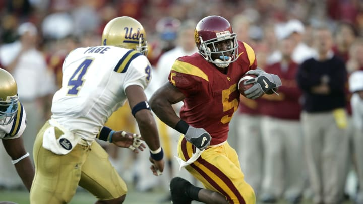Reggie Bush has continued to influence USC football with his No. 5. (Joe Robbins/Getty Images)