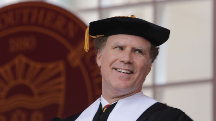 Will Ferrell isn't just a USC football fan. He spoke at the Trojans commencement in 2017. (Jerritt Clark/Getty Images)