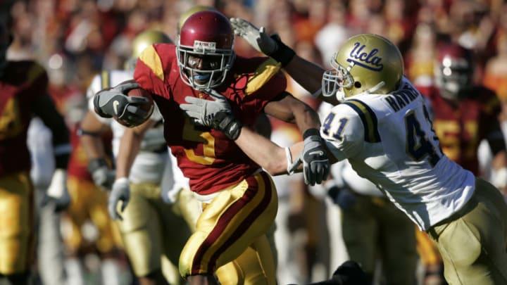Reggie Bush's greatest USC football moments were otherworldly. (Joe Robbins/Getty Images)