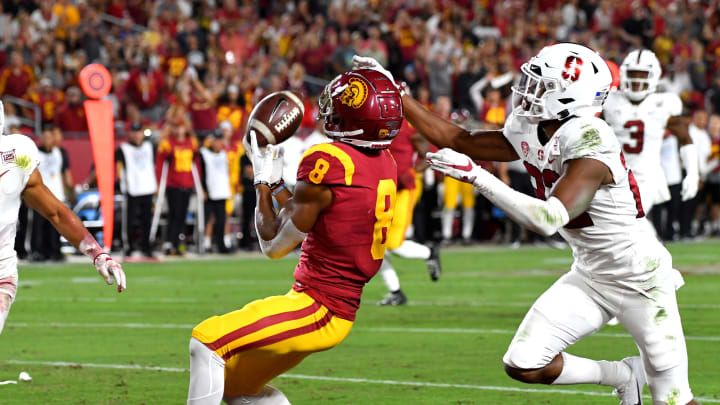 USC football wide receiver Amon-Ra St Brown. (Jayne Kamin-Oncea/Getty Images)