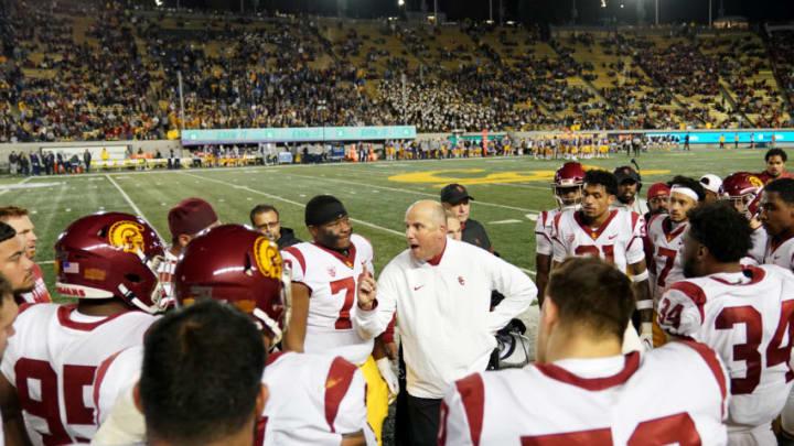 USC football head coach Clay Helton. (Thearon W. Henderson/Getty Images)