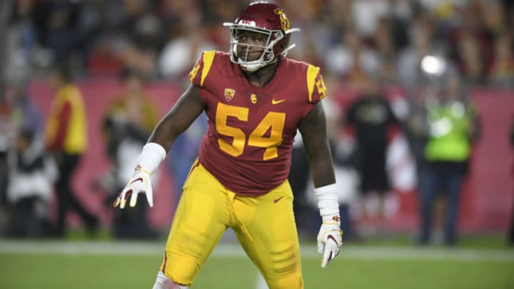 USC football lineman Jalen McKenzie. (John McCoy/Getty Images)