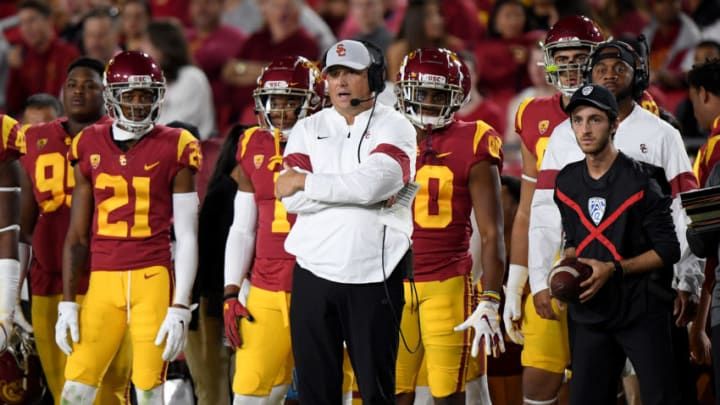 USC football head coach Clay Helton. (Harry How/Getty Images)