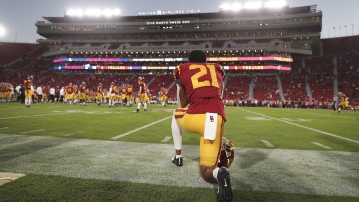 USC football safety Isaiah Pola-Mao. (Meg Oliphant/Getty Images)