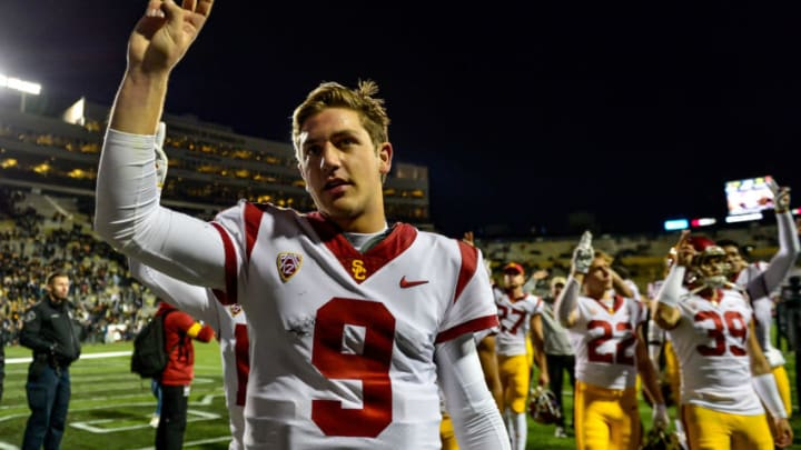 USC football quarterback Kedon Slovis. (Dustin Bradford/Getty Images)