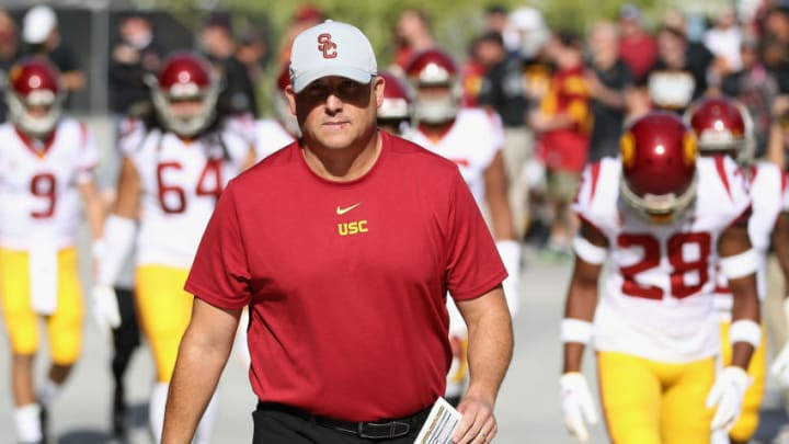 USC football head coach Clay Helton. (Christian Petersen/Getty Images)