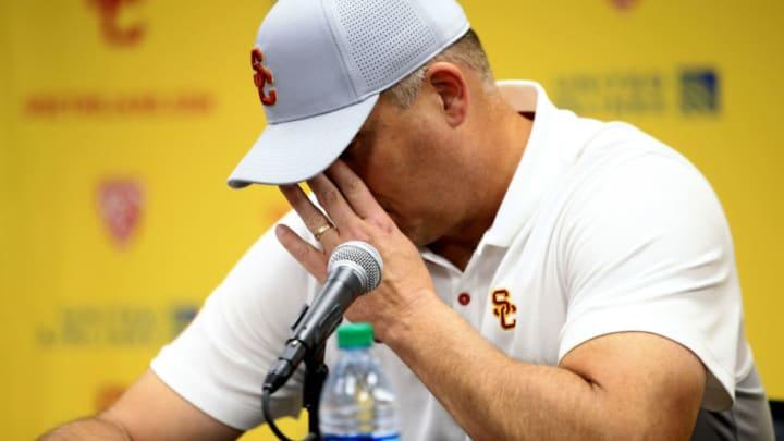 USC football head coach Clay Helton. (Sean M. Haffey/Getty Images)