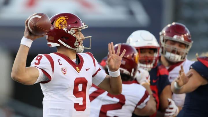 USC football quarterback Kedon Slovis. (Christian Petersen/Getty Images)