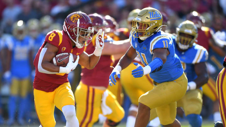 USC football receiver Amon-Ra St. Brown. (Jayne Kamin-Oncea/Getty Images)
