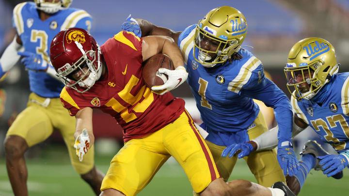 USC football receiver Drake London. (Sean M. Haffey/Getty Images)