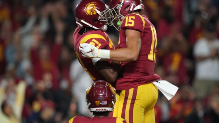 USC football receivers. (Kirby Lee-USA TODAY Sports)