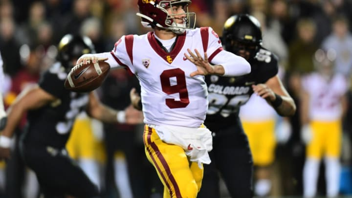 USC football quarterback Kedon Slovis. (Ron Chenoy-USA TODAY Sports)
