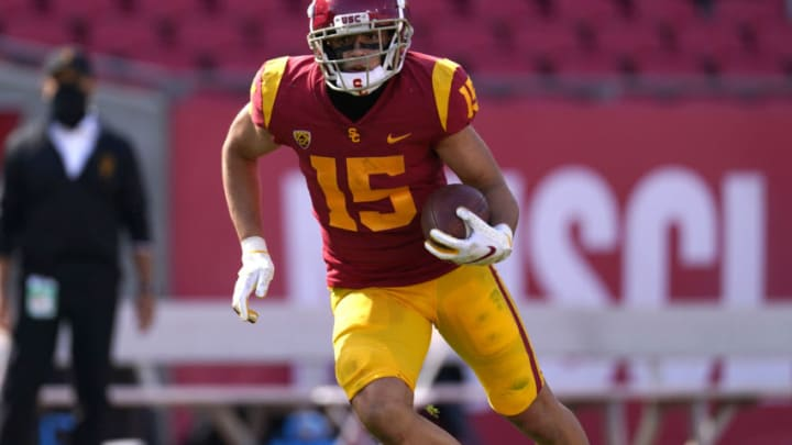 USC football wide receiver Drake London. ((Kirby Lee-USA TODAY Sports)