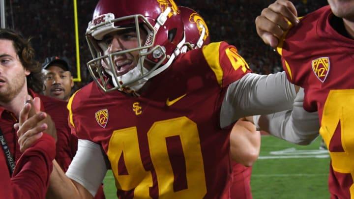 USC football kicker Chase McGrath. (Jayne Kamin-Oncea-USA TODAY Sports)
