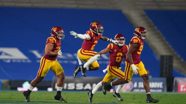 USC football defensive backs. (Kirby Lee-USA TODAY Sports)