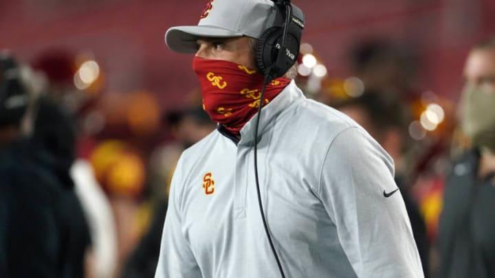 USC football head coach Clay Helton. (Kirby Lee-USA TODAY Sports)