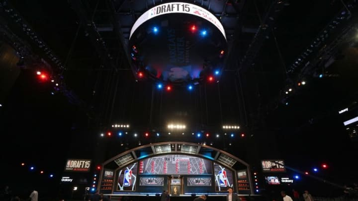 Jun 25, 2015; Brooklyn, NY, USA; General view of Barclays Center before the start of the 2015 NBA Draft. Mandatory Credit: Brad Penner-USA TODAY Sports