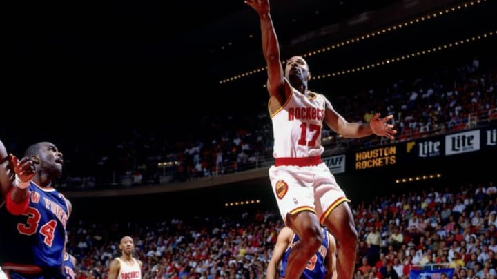 HOUSTON - JUNE 19: Mario Elie #17 of the Houston Rockets. Copyright 1994 NBAE (Photo by Andrew D. Bernstein/NBAE via Getty Images)